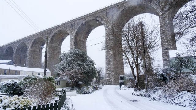 The viaduct in the snow..   #snowday